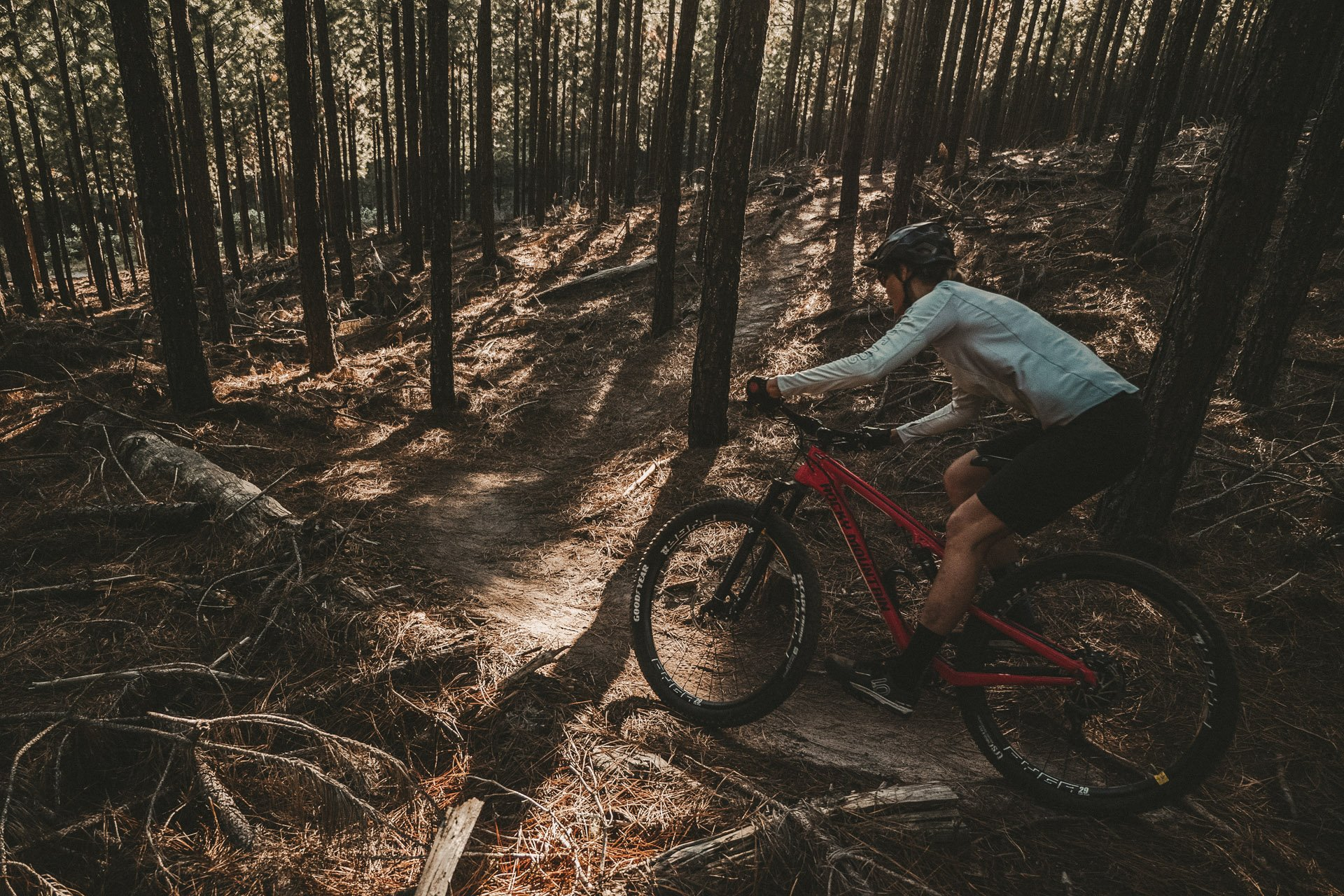 Lady riding trails on Goodyear off road tires